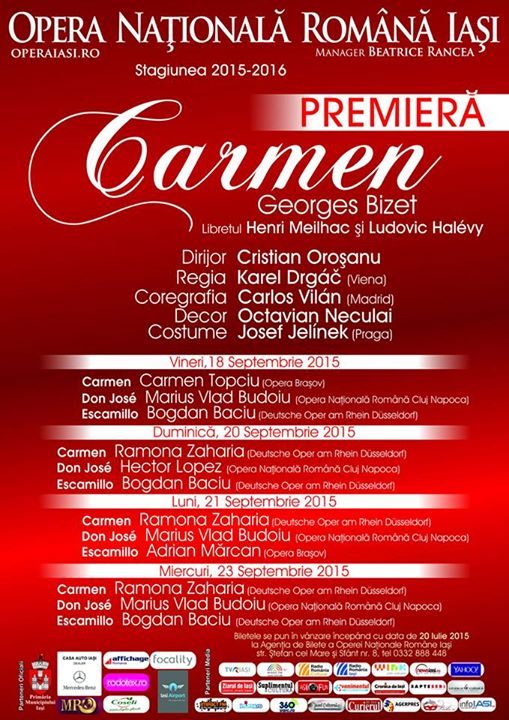 """Carmen"" la Iasi in septembrie"