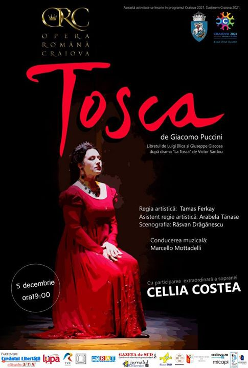 Cellia Costea in Tosca pe scena din Banie
