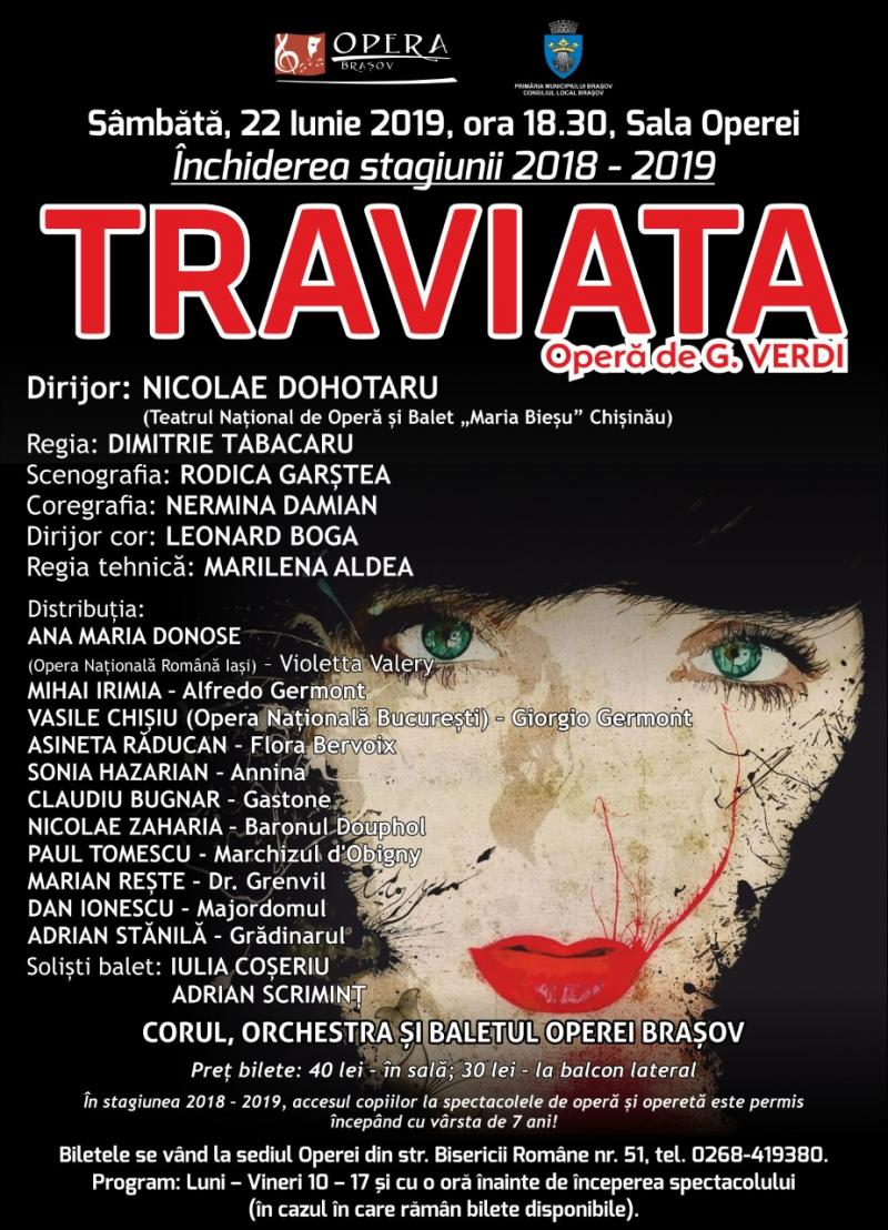 """Traviata"", final de stagiune la Opera Brașov!"