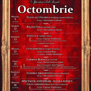 Program octombrie 2019