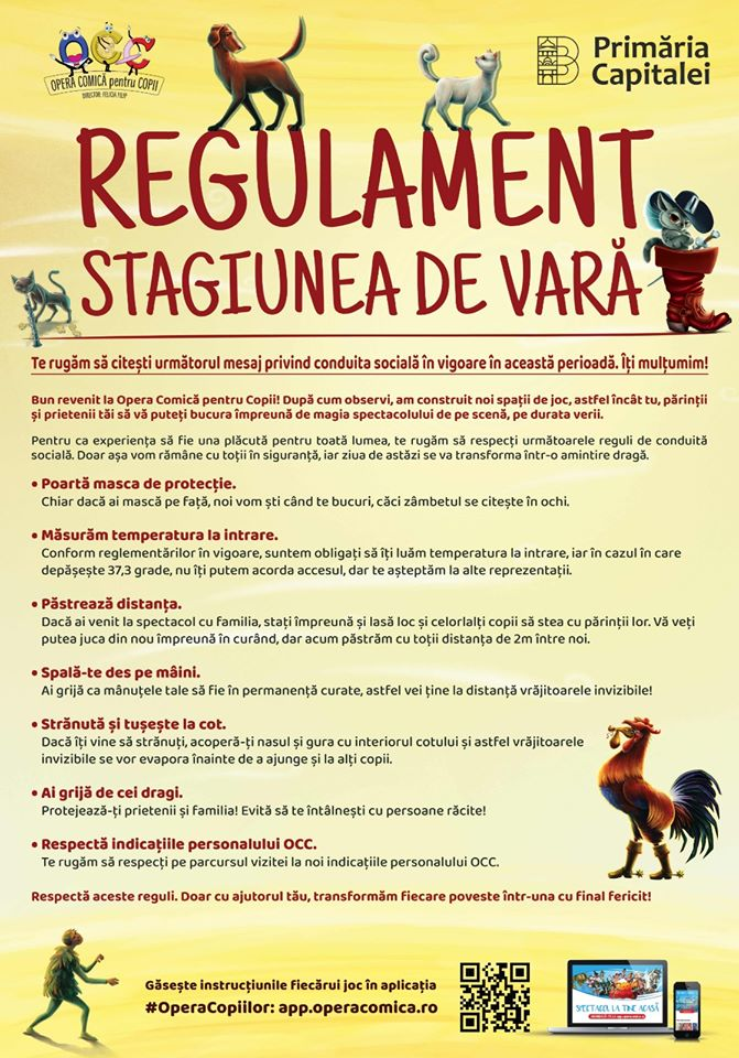 Regulament stagiunea de vară